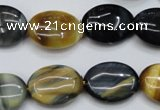 CTE571 15.5 inches 15*20mm oval golden & blue tiger eye beads