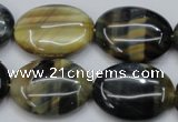 CTE572 15.5 inches 18*25mm oval golden & blue tiger eye beads