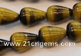 CTE610 15.5 inches 15*20mm teardrop yellow tiger eye beads wholesale