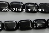 CTE72 15.5 inches 13*18mm rectangle blue tiger eye gemstone beads