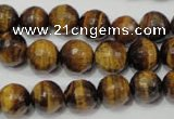 CTE753 15.5 inches 10mm faceted round yellow tiger eye beads wholesale