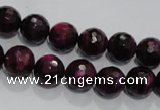 CTE972 15.5 inches 8mm faceted round dyed red tiger eye beads