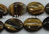 CTE98 15.5 inches 15*20mm oval yellow tiger eye beads wholesale