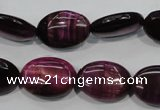 CTE996 15.5 inches 15*20mm oval dyed red tiger eye beads wholesale
