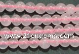CTG07 15.5 inches 3mm round tiny rose quartz beads wholesale