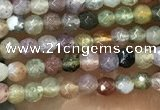 CTG1009 15.5 inches 2mm faceted round tiny Indian agate beads