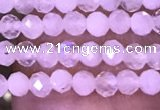 CTG1028 15.5 inches 2mm faceted round tiny white moonstone beads