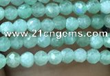 CTG1037 15.5 inches 2mm faceted round tiny green aventurine beads