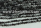 CTG106 15.5 inches 2mm round tiny snowflake obsidian beads wholesale