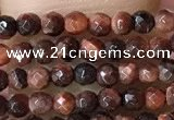 CTG1063 15.5 inches 2mm faceted round tiny red tiger eye beads