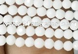 CTG1087 15.5 inches 2mm faceted round tiny white porcelain beads