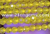 CTG1093 15.5 inches 2mm faceted round tiny quartz glass beads