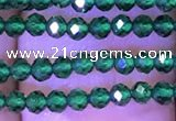 CTG1098 15.5 inches 2mm faceted round tiny quartz glass beads
