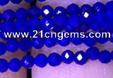 CTG1100 15.5 inches 2mm faceted round tiny quartz glass beads