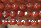 CTG1113 15.5 inches 3mm faceted round tiny red agate beads