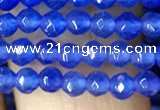 CTG1114 15.5 inches 3mm faceted round tiny blue agate beads