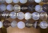 CTG1119 15.5 inches 3mm faceted round tiny Botswana agate beads
