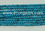 CTG114 15.5 inches 2mm round tiny blue turquoise beads wholesale
