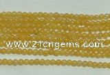 CTG118 15.5 inches 2mm round tiny yellow jade beads wholesale