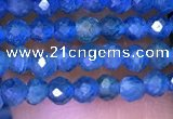 CTG1195 15.5 inches 3mm faceted round tiny apatite gemstone beads
