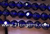 CTG1199 15.5 inches 3mm faceted round tiny quartz glass beads