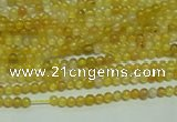 CTG121 15.5 inches 2mm round tiny yellow agate beads wholesale