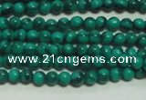 CTG131 15.5 inches 3mm round tiny synthetic malachite beads wholesale