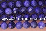 CTG1334 15.5 inches 3mm faceted round sapphire beads wholesale