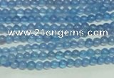 CTG137 15.5 inches 3mm round tiny blue agate beads wholesale