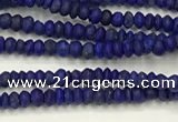CTG1370 15.5 inches 1*1.5mm rondelle tiny lapis lazuli beads