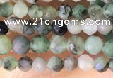 CTG1386 15.5 inches 2mm faceted round tiny emerald beads