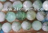 CTG1390 15.5 inches 4mm faceted round tiny emerald beads