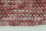 CTG140 15.5 inches 3mm round tiny rhodochrosite gemstone beads wholesale