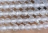 CTG1400 15.5 inches 2mm faceted round white crystal beads wholesale