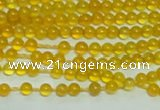CTG141 15.5 inches 3mm round tiny yellow agate beads wholesale