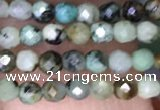 CTG1425 15.5 inches 2mm faceted round African turquoise beads