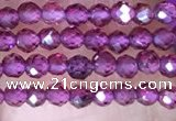 CTG1439 15.5 inches 2mm faceted round garnet beads wholesale