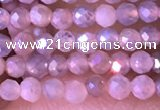 CTG1452 15.5 inches 2mm faceted round AB-color moonstone beads