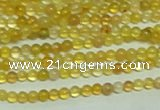 CTG151 15.5 inches 3mm round tiny yellow agate beads wholesale