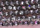 CTG1669 15.5 inches 2mm faceted round tiny pyrite beads