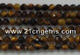 CTG207 15.5 inches 3mm faceted round tiny yellow tiger eye beads