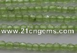 CTG210 15.5 inches 2mm faceted round tiny olive quartz beads