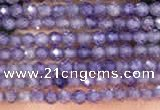 CTG2104 15 inches 2mm faceted round tiny quartz glass beads