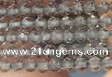 CTG2107 15 inches 2mm faceted round tiny ice obsidian beads