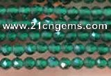 CTG2111 15 inches 2mm faceted round tiny quartz glass beads