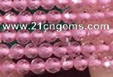 CTG2113 15 inches 2mm faceted round tiny quartz glass beads