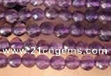 CTG2123 15 inches 2mm,3mm & 4mm faceted round amethyst gemstone beads