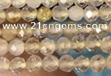 CTG2143 15 inches 2mm,3mm faceted round golden rutilated quartz beads