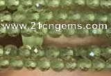 CTG2157 15 inches 2mm,3mm faceted round olive quartz gemstone beads