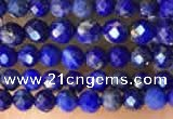 CTG2159 15 inches 2mm,3mm faceted round lapis lazuli beads